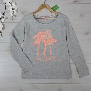 Lilly Pulitzer NWT Palm Tree Popover Sweatshirt M